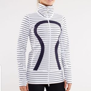 Lululemon In Stride Jacket Black and White Stripe